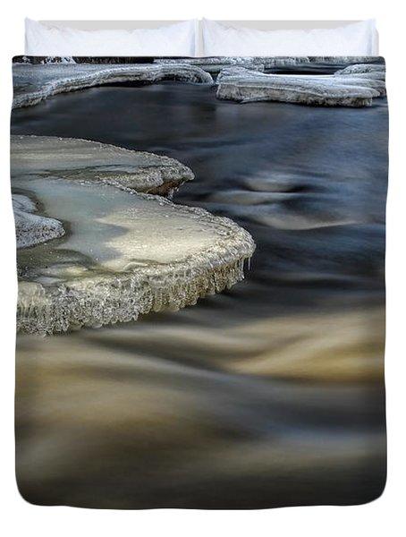 Eau Claire Dells Park River Ice Duvet Cover