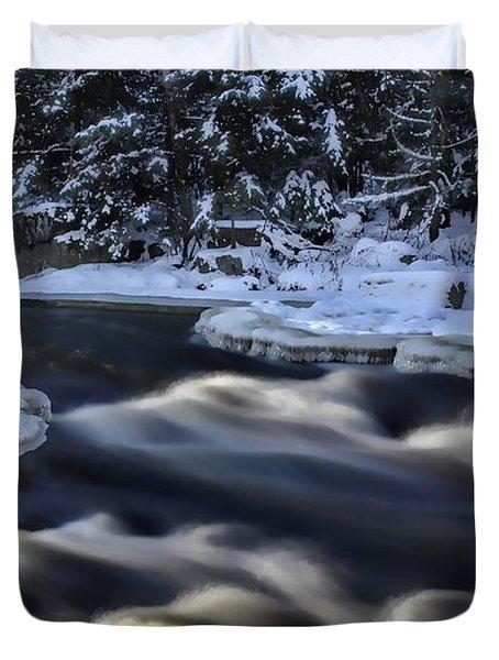 Eau Claire River Turbulent Flow Duvet Cover