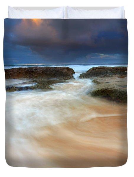 Ebb Tide Sunrise Duvet Cover by Mike  Dawson