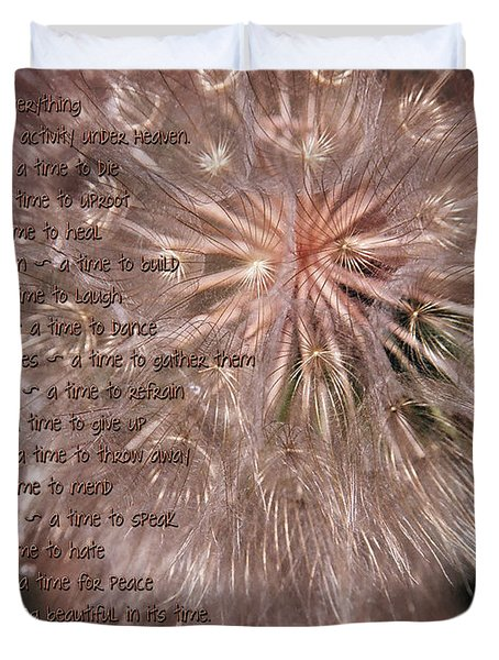 Ecclesiastes Seasons Duvet Cover by Constance Woods
