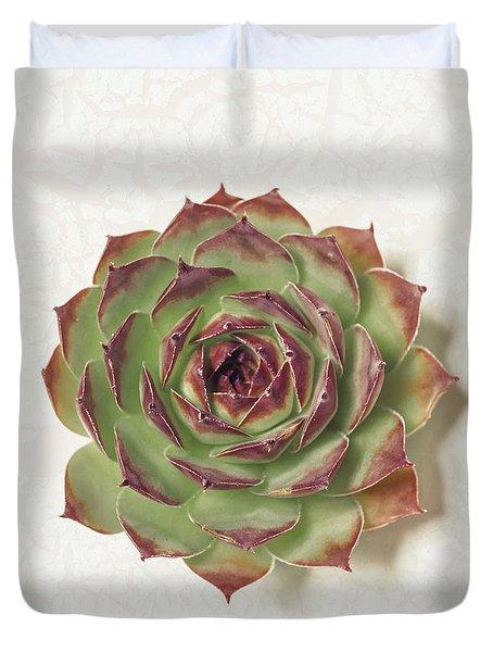 Echeveria Succulent Duvet Cover