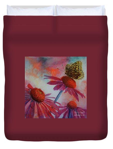 Echinacea Fritillaria Duvet Cover