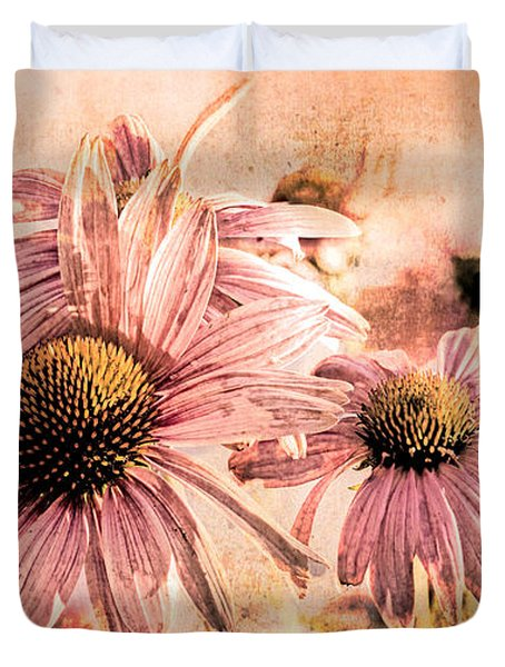 Echinacea Impressions  Duvet Cover by Bob Orsillo