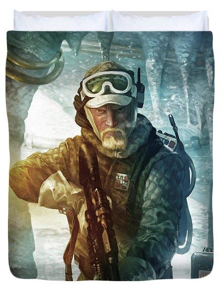 Echo Base Trooper Duvet Cover by Ryan Barger
