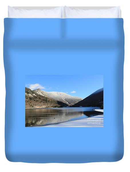 Echo Lake Franconia Notch Duvet Cover