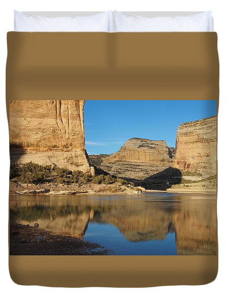 Echo Park In Dinosaur National Monument Duvet Cover