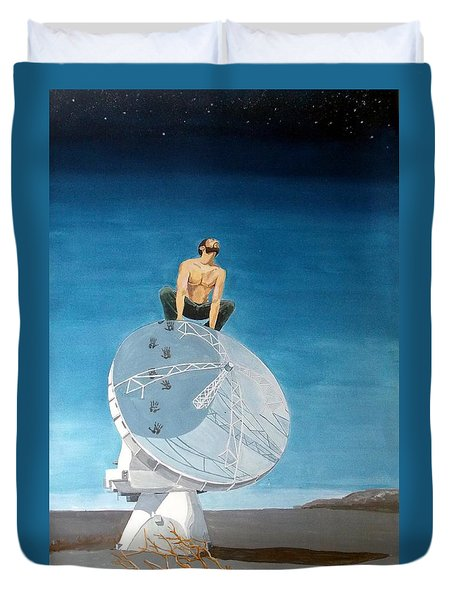 Duvet Cover featuring the painting Echoes by Lazaro Hurtado