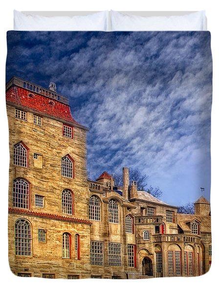 Eclectic Castle Duvet Cover by Susan Candelario