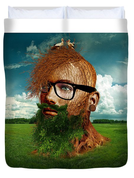 Eco Hipster Duvet Cover by Marian Voicu