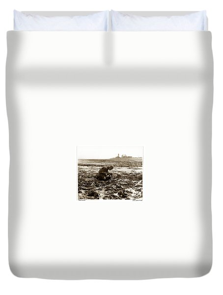 Ed Ricketts At Point Wilson Lighthouse In Port Townsend Wa 1930 Duvet Cover