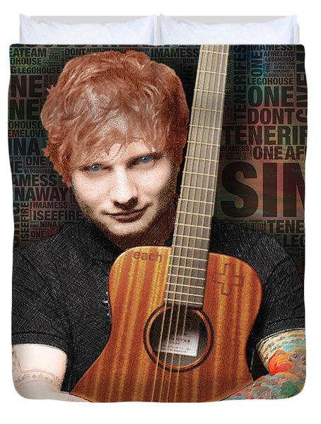 Ed Sheeran And Song Titles Duvet Cover