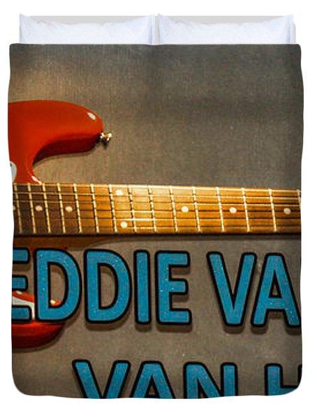 Eddie Van Halen Guitar Duvet Cover by Gary Keesler