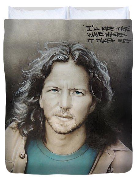 ' Eddie Vedder ' Duvet Cover