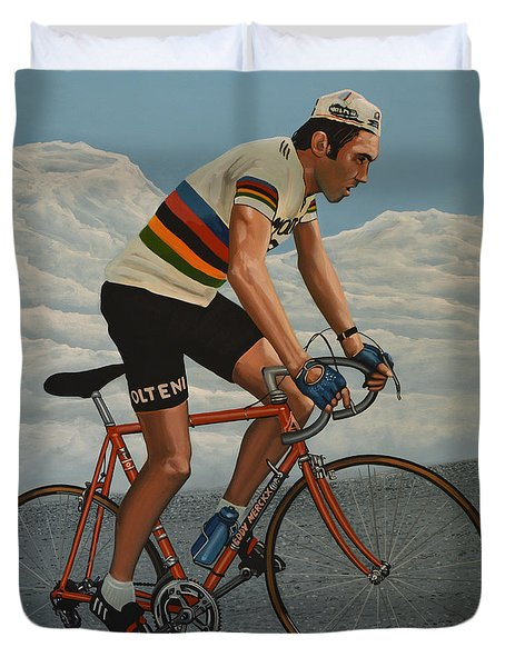 Eddy Merckx Duvet Cover
