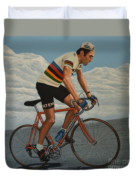Eddy Merckx Duvet Cover by Paul Meijering