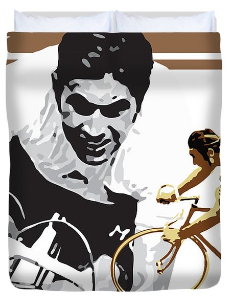 Eddy Merckx Duvet Cover