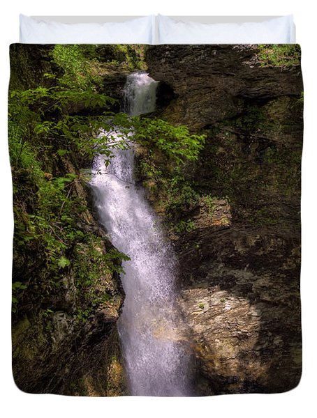 Eden Falls Lost Valley Buffalo National River Duvet Cover