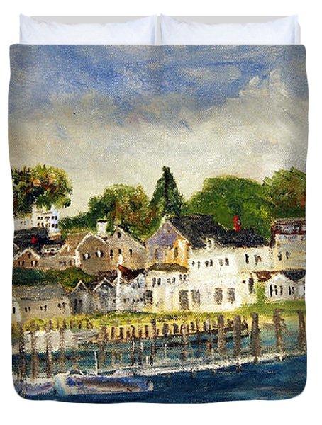 Edgartown Harbor Duvet Cover