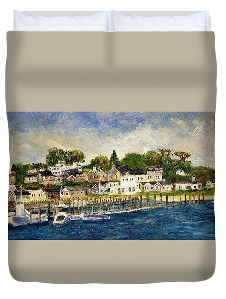 Edgartown Harbor Duvet Cover