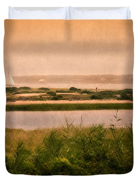 Edgartown Lighthouse Duvet Cover by Bill Wakeley