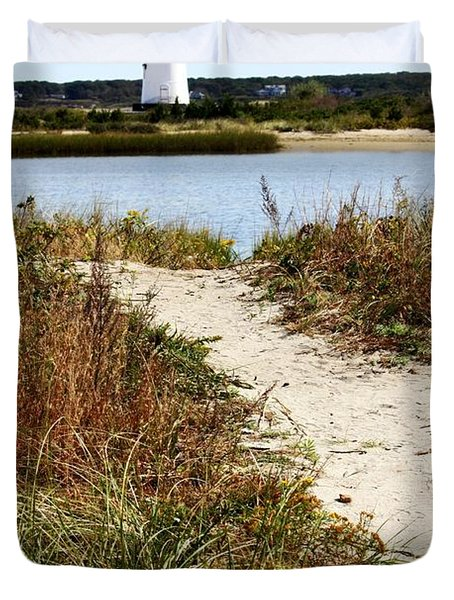 Edgartown Lighthouse Duvet Cover by Carol Groenen