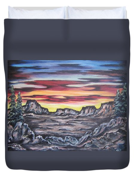 Edge Of The Desert Duvet Cover
