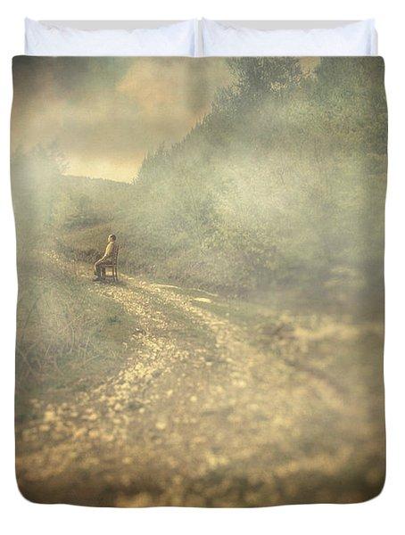 Edge Of The World Duvet Cover by Taylan Apukovska