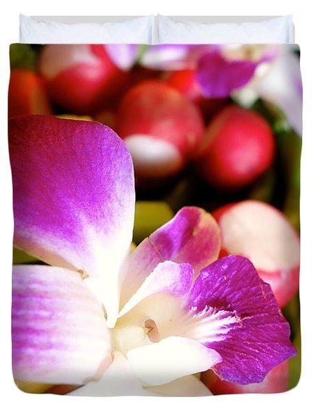 Edible Flowers Duvet Cover by Jacqueline Athmann