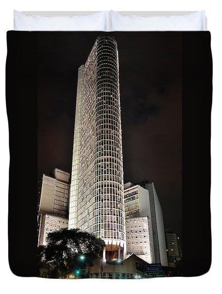 Edificio Italia By Night Duvet Cover