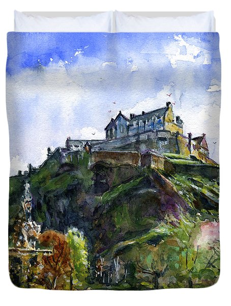 Edinburgh Castle Scotland Duvet Cover