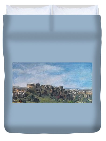 Edinburgh Castle Vista Duvet Cover by Richard James Digance
