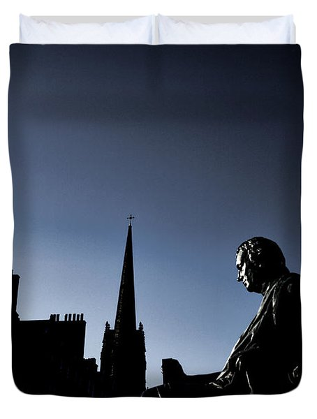 Duvet Cover featuring the photograph Edinburgh Royal Mile by Craig B