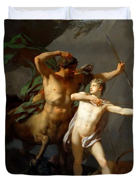 Education Of Achilles Duvet Cover