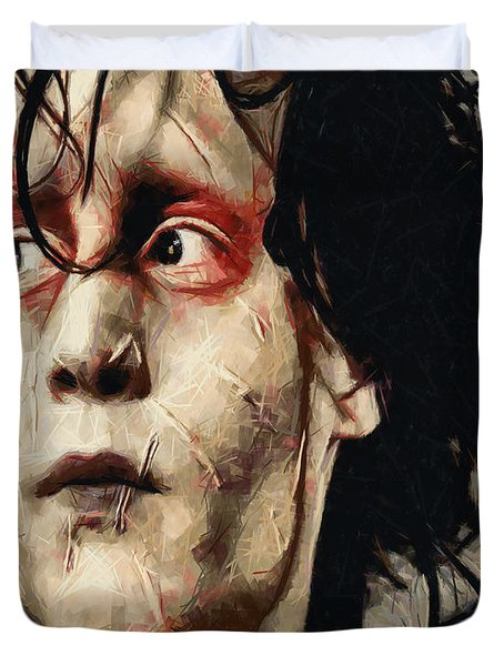 Edward Scissorhands  Duvet Cover by Joe Misrasi