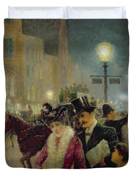 Edwardian London Duvet Cover by Eugene Joseph McSwiney