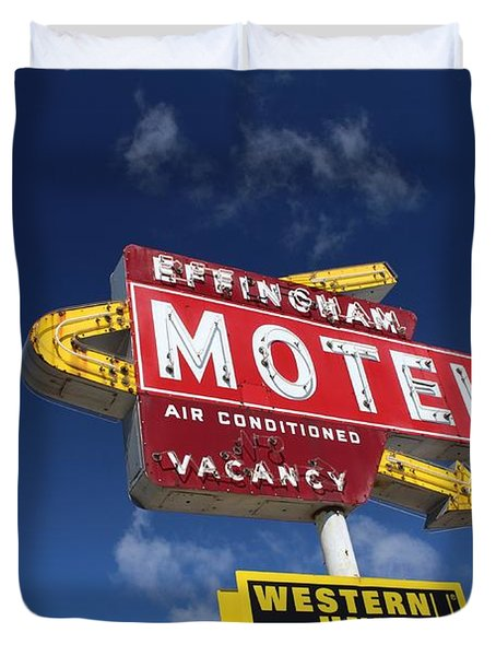 Effingham Motel Duvet Cover
