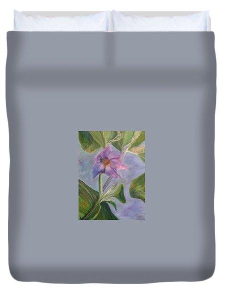 Eggplant Blossom Duvet Cover