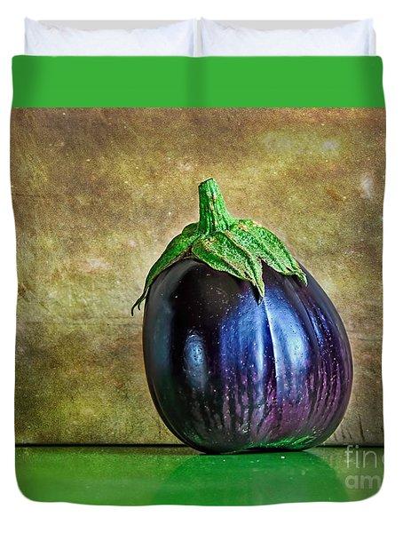 Eggplant Duvet Cover by Kaye Menner