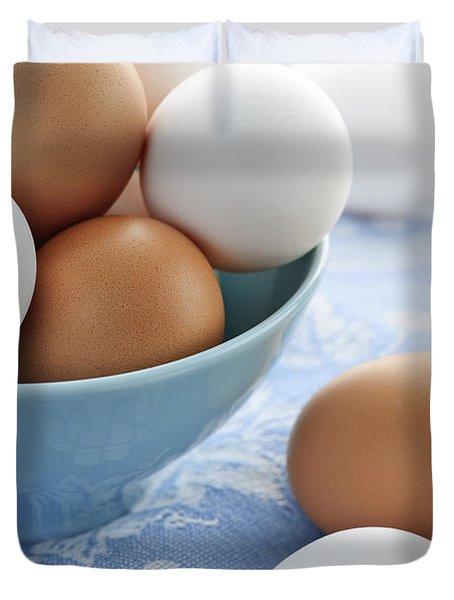Eggs In Bowl Duvet Cover by Elena Elisseeva