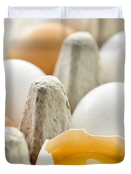 Eggs In Box Duvet Cover