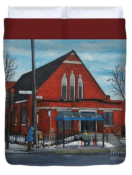 Eglise Baptiste Evangelique De La Grace De Verdun  Duvet Cover by Reb Frost