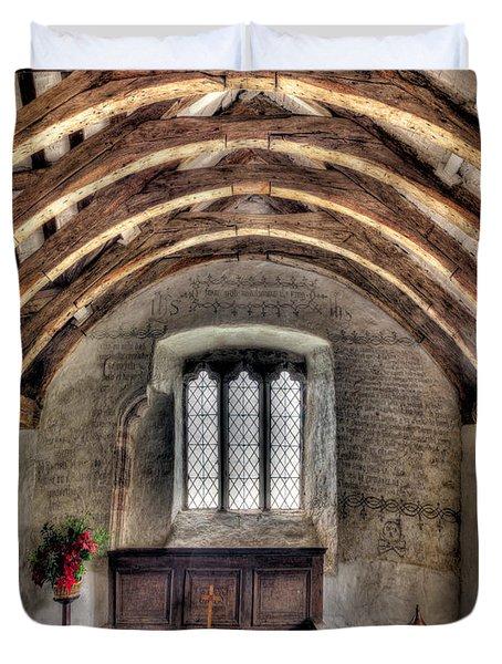 Eglwys Celynnin Sant Duvet Cover by Adrian Evans