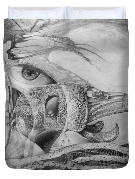 Ego-bird-fish Nesting Ground Duvet Cover by Otto Rapp