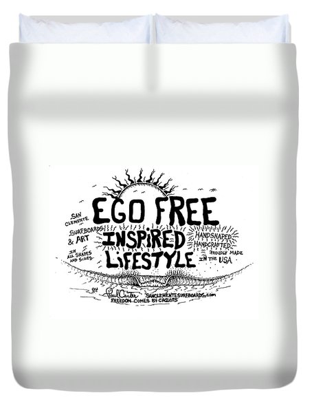 Ego Free Inspired Lifestyle Duvet Cover