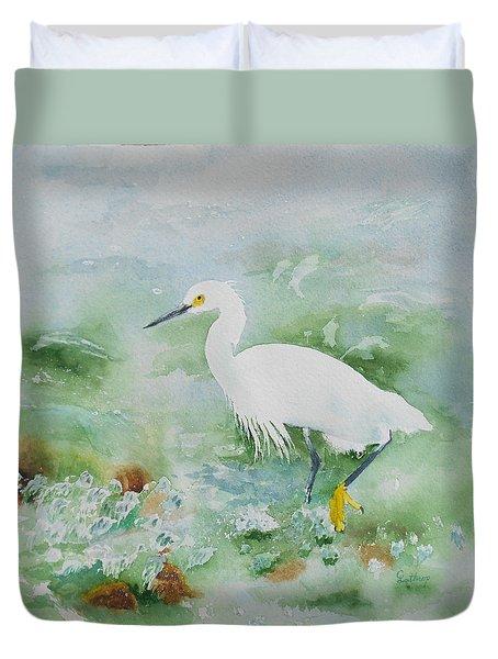 Egret 2 Duvet Cover