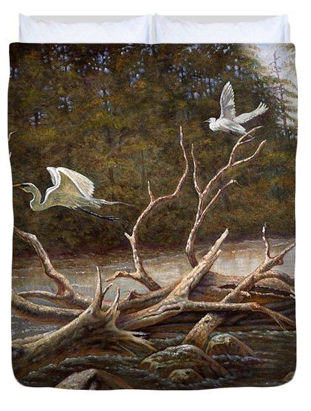 Egret's Paradise Duvet Cover