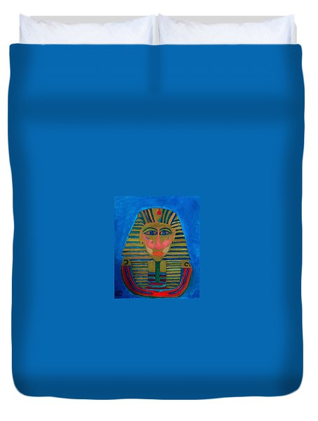 Duvet Cover featuring the painting Egypt Ancient  by Colette V Hera  Guggenheim