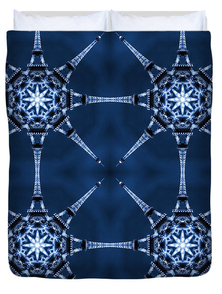 Eiffel Art 6 Duvet Cover by Mike McGlothlen