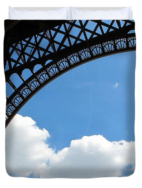 Eiffel Clouds Duvet Cover