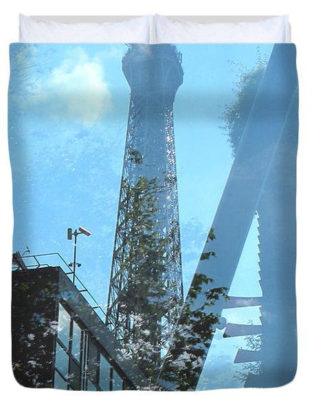 Eiffel Collage Duvet Cover